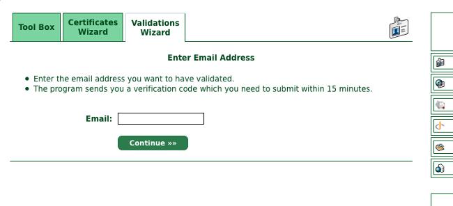 Enter Email Addres画面