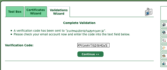 Verification Codeを入力