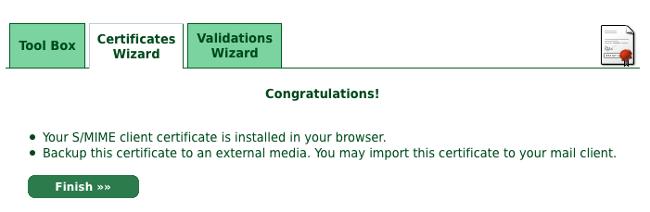 Congratulations画面